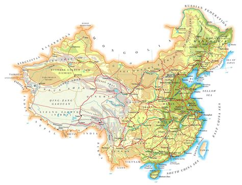 china maps printable maps  china