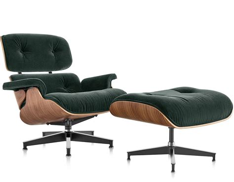 herman miller eames lounge chair ottoman in mohair supreme