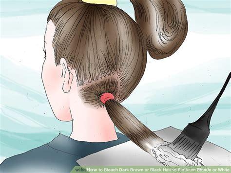 How To Bleach Dark Brown Or Black Hair To Platinum Blonde
