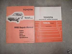 1988 Toyota Tercel Wagon Service Repair Shop Workshop