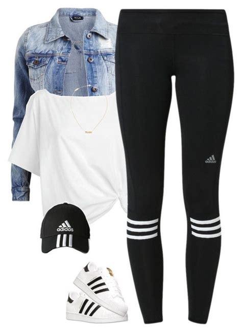 Leggings adidas workout leggings workout white crop tops denim jacket activewear necklace ...