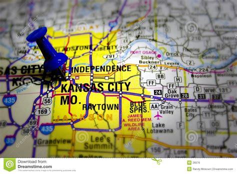 carte de kansas city image libre de droits image 26576