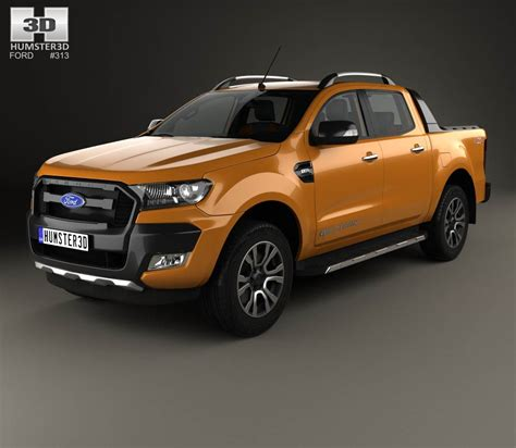 ford ranger cab wildtrak with hq interior 2016 3d model hum3d