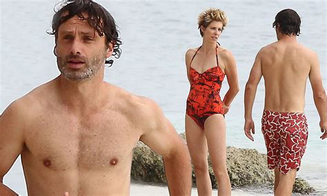 Walking Dead's Andrew Lincoln shows off his buff beach