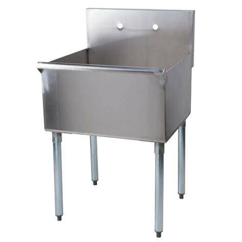 "24"" Stainless Steel One Compartment Commercial Restaurant"