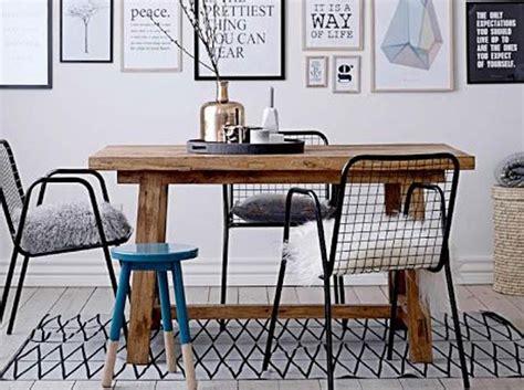 table et chaises cuisine comment bien associer des chaises dépareillées