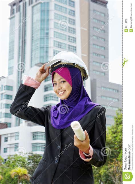 architect young muslim women stock image image