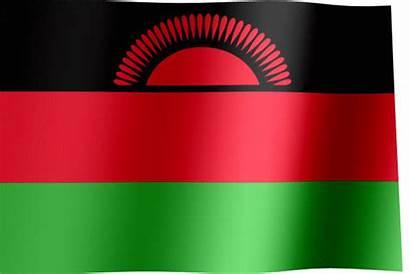 Malawi Flag Flags Rising Sun
