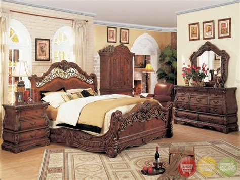 Bedroom Bedroom Set With Marble Top New Traditional King
