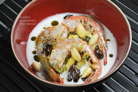 cuisine gambas gambas marinees miso mirin coco amandes une recette de