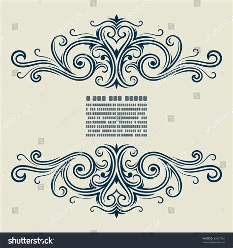 vector vintage template frame flower style stock vector