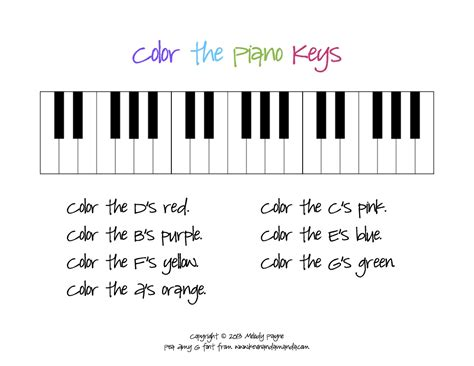 color the piano sheet