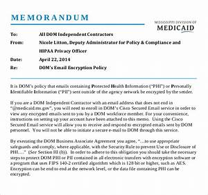 14 email memo templates free sample example format With encryption policy template