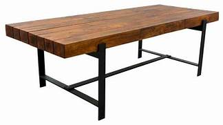 Modern Rustic Wood Dining Table by Industrial Wood Modern Rustic Iron Base Factory Dining Table Industri