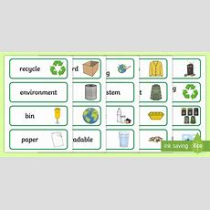 Vic Recycling Word Cards