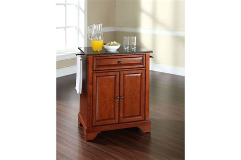 lafayette solid black granite top portable kitchen island