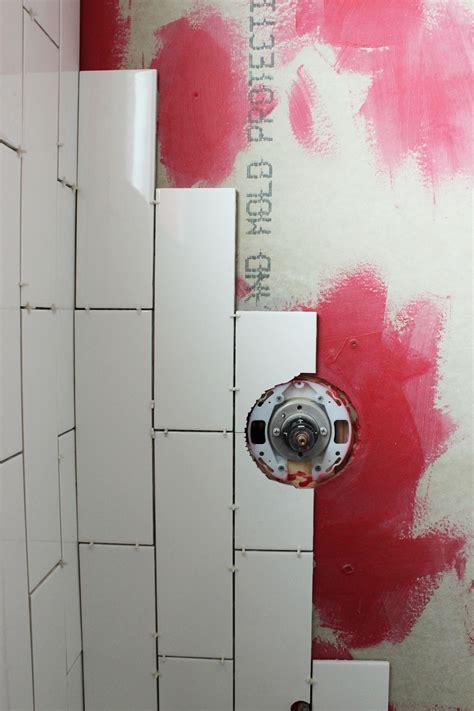 Tiling A Tub Shower by How To Tile A Shower Tub Surround Part 1 Laying The Tile