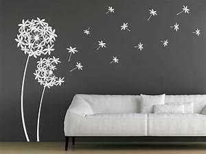 Dekorative Pflanzen Fürs Wohnzimmer : wandtattoo dekorative pusteblumen aus bl ten ~ Eleganceandgraceweddings.com Haus und Dekorationen