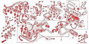 Wire Harness  Battery For Honda Cb 1000 R Sienna Red 2015