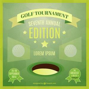 Microsoft Word Complaint Template Golf Tournament Poster Vector Free Download