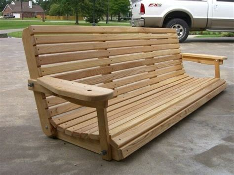 Wooden Porch Swings by 6 Cypress Porch Swing Wood Wooden Outdoor Furniture Ebay