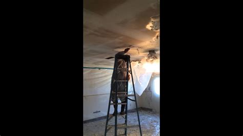 removing asbestos  popcorn ceiling texture youtube