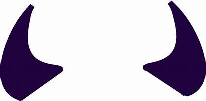 Horns Devil Purple Clip Clipart Svg Vector