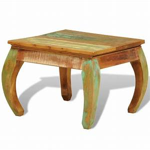 reclaimed wood coffee table vintage antique style vidaxlcom With antique looking coffee tables