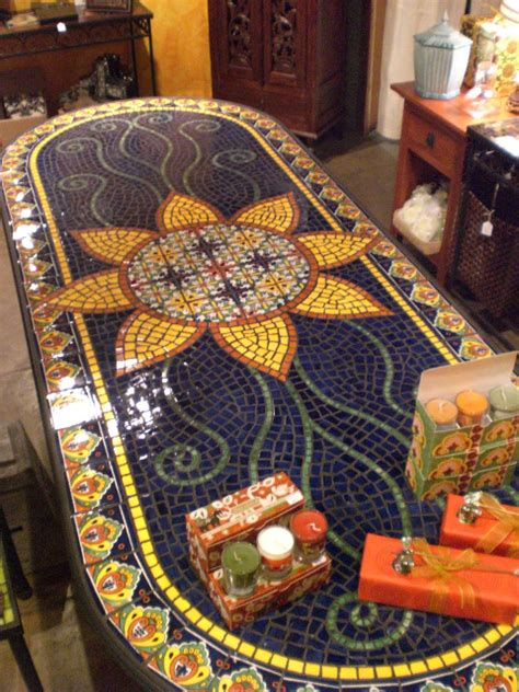mexican tile coffee table dining table furniture mosaic tile dining tables