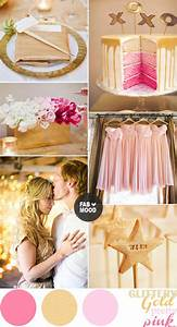 Pink and Gold Wedding Colors Palette