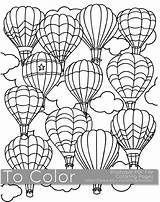 Coloring Air Printable Adults Pdf Balloon Balloons Pages Adult Sheet Easy Colouring Sheets Books Grown Ups Cartoon Simple Digital Print sketch template