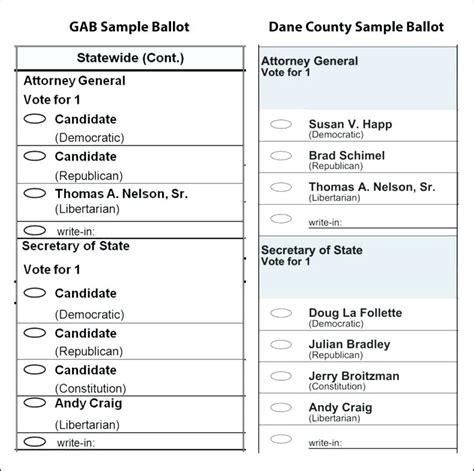 ballot template word