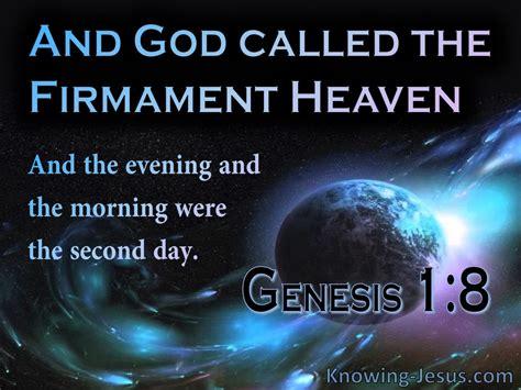 genesis  god called  firmament heaven blue