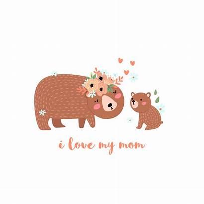 Bear Cub Clip Illustrations Mothers Bears