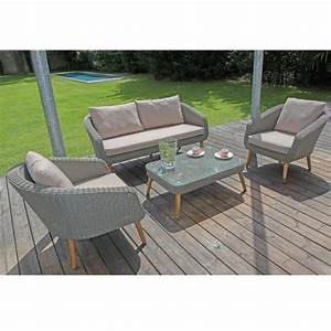 Salon De Jardin Bas : salon de jardin bas centura r sine tress e 2 fauteuils ~ Voncanada.com Idées de Décoration