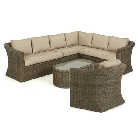 Maze Rattan Corner Sofa Set by Maze Rattan Winchester Large Corner Sofa Set With Chair