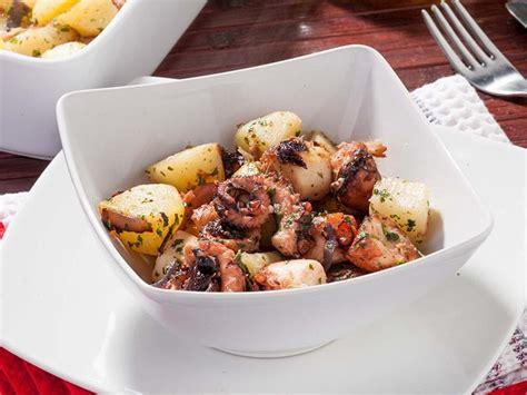 sos recettes cuisine salade chaude de pieuvre et pommes de terre une recette