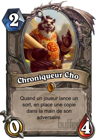 Lorewalker Cho Rogue Deck by Chroniqueur Cho Lorewalker Cho Serviteur Carte