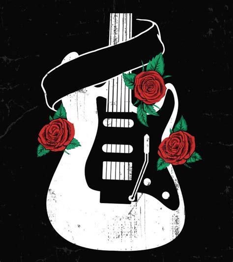 trendy guitar tattoo designs