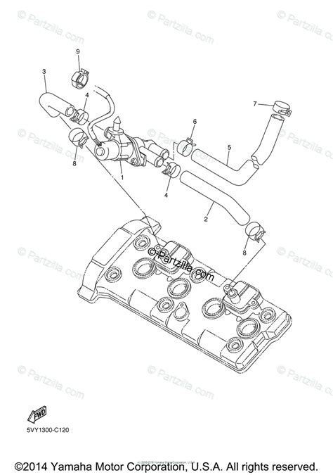 yamaha motorcycle 2005 oem parts diagram for air induction system partzilla com