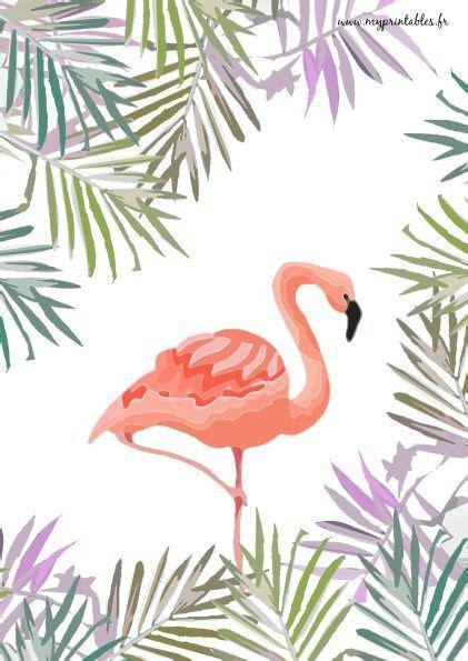 printable flamingo jungle wwwmyprintablesfr