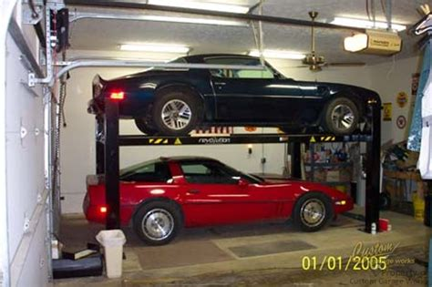 garage car lift garage car lifts installed by custom garage works in fort