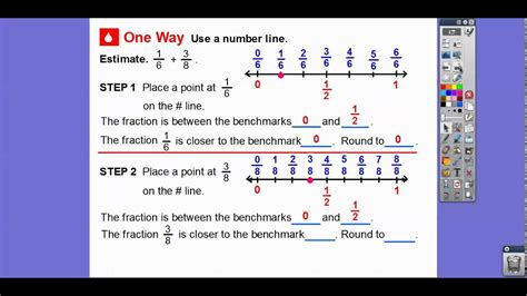 estimate fraction sums  differences lesson  youtube