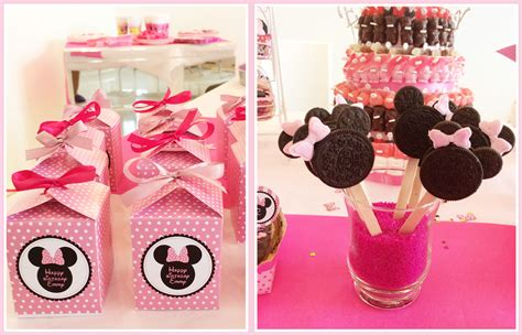 deco table bapteme minnie