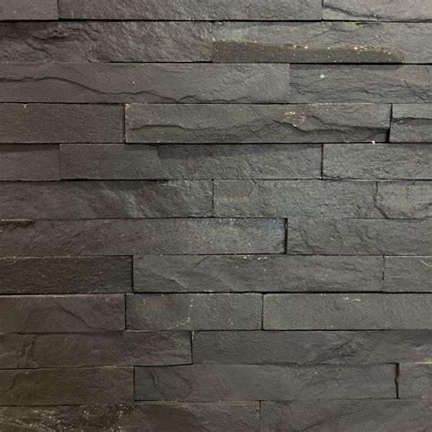 slate wall tiles slate black split face tile 10x40cm wall cladding ceramic planet