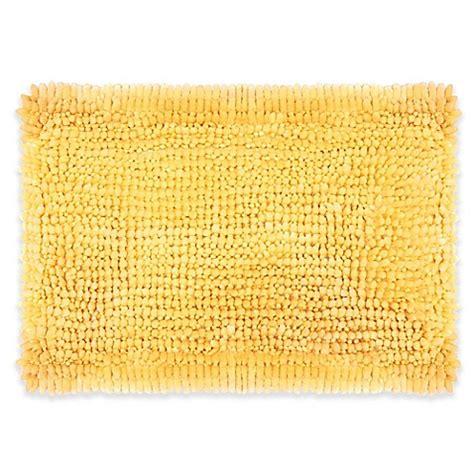 yellow bathroom rugs 174 butter chenille bath rug bed bath beyond 1207