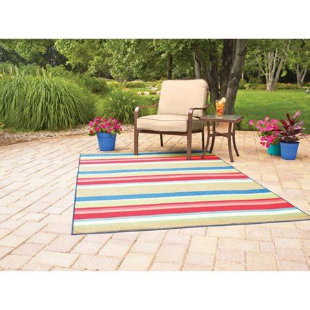 outdoor rugs walmart mainstays indoor outdoor rug multi stripe sizes