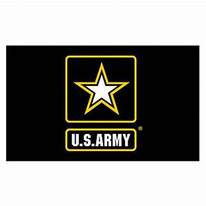 Army Logo Flag 3ft x5ft Super Knit Polyester
