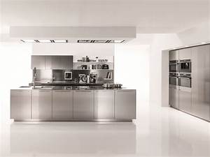 Kuche aus edelstahl filofree steel by euromobil design for Küche edelstahl