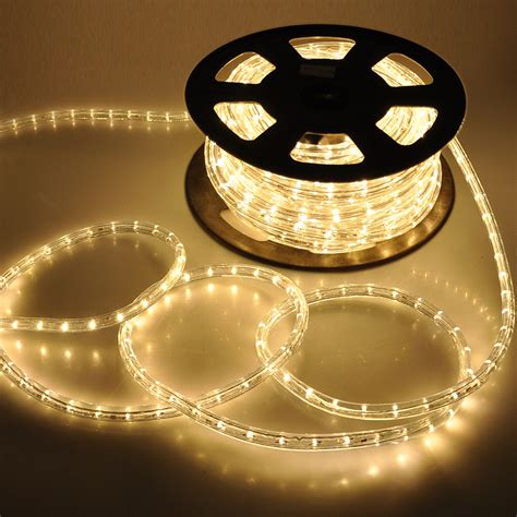 50' Led Rope Light Flex 2 Wire Outdoor Holiday Décor